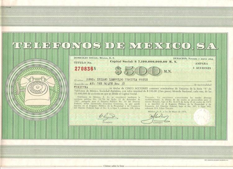 Acciones de telmex, telmex acciones