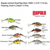 Rapala Jointed Shad Rap JSR07,  2-3/4
