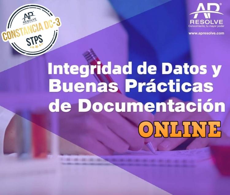28 Oct. 2020 ONLINE Integridad de Datos y Buenas Prácticas de Documentación