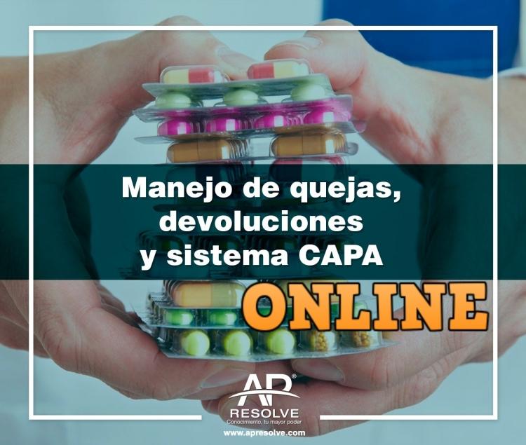 07 May. 2020 ONLINE Aseguramiento de Calidad y programa CAPA