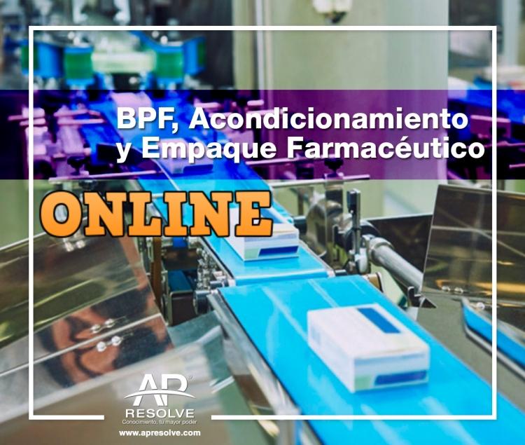 27 Sep. 2019 ONLINE Buenas Prácticas de Fabricación, Acondicionamiento y Empaque Farmacéutico
