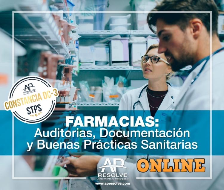 13-14 Oct. 2020 ONLINE FARMACIAS: Auditorias, Documentación y Buenas Prácticas Sanitarias