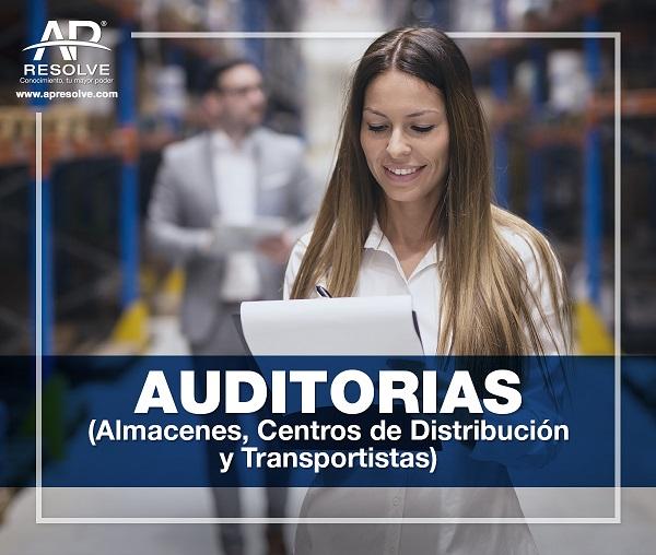 29 Abr. 2021 ONLINE Auditorias: Almacenes, Centros de Distribución y Transportistas