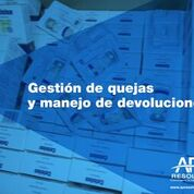 25 Nov. 2017 Gestión de quejas y manejo de devoluciones.