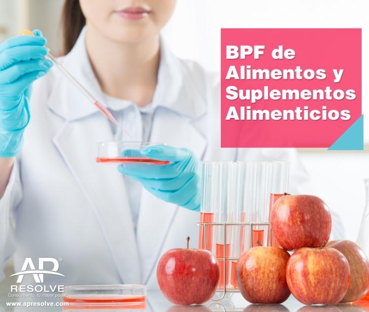 15 Nov. 2019 Buenas Prácticas de Fabricación de Suplementos Alimenticios