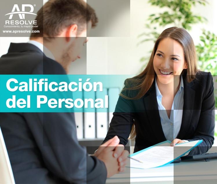 21 Nov. 2019 Calificación del personal