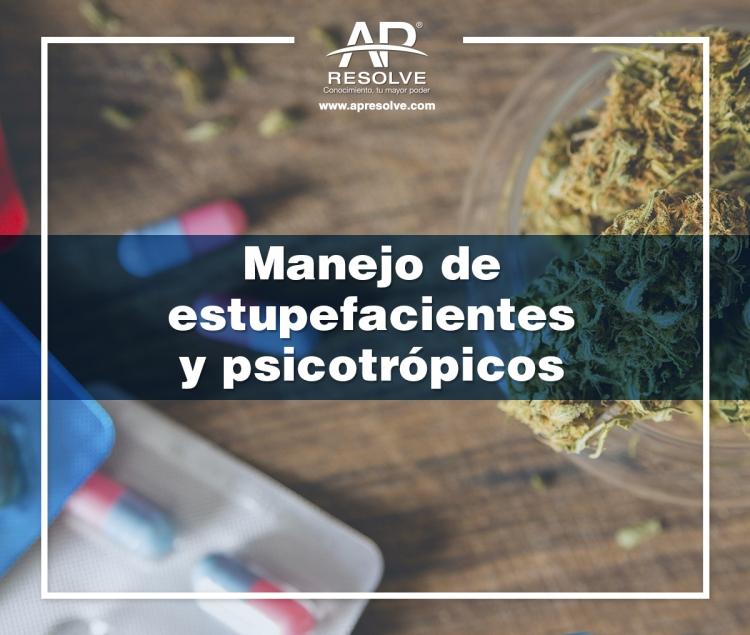 28 Nov. 2019 Manejo de estupefacientes y psicotrópicos