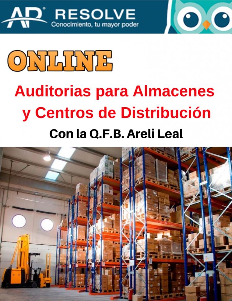 20 Feb. 2020 ONLINE Auditorias: Almacenes, Centros de Distribución y Transportistas