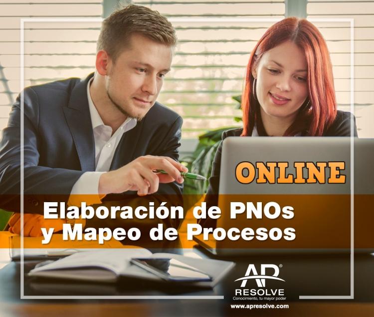 01 Jul. 2020 ONLINE Elaboración de PNO´s y Mapeo de Procesos
