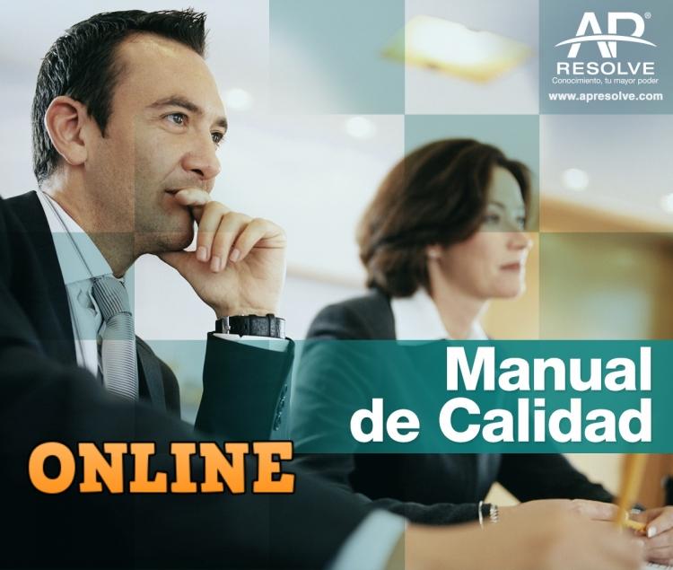 09 Nov. 2020 ONLINE Manual de Calidad, cómo elaborarlo.