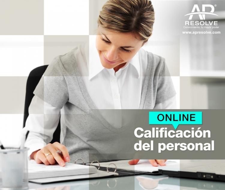 17 Nov. 2020 ONLINE 2020 Calificación del personal