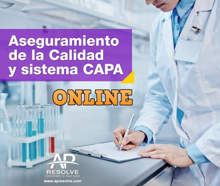 01 Dic. 2020 ONLINE Aseguramiento de la Calidad y programa CAPA, Quejas y Devoluciones