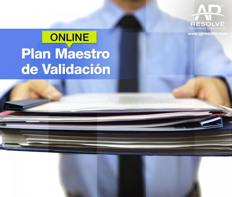 21 Jul. 2021 ONLINE Plan Maestro de Validación