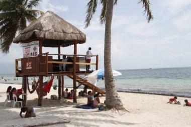 Playa del Niño, muy concurrida en fines de semana