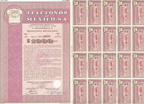 Obligaciones y Acciones Telmex