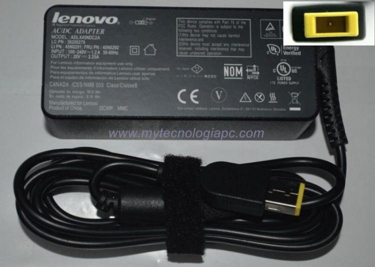 Cargador Lenovo 45w P Cuadrada Original