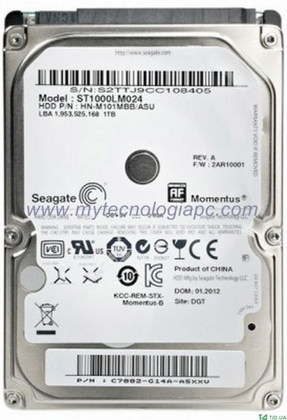 Disco Duro 2.5 500 GB