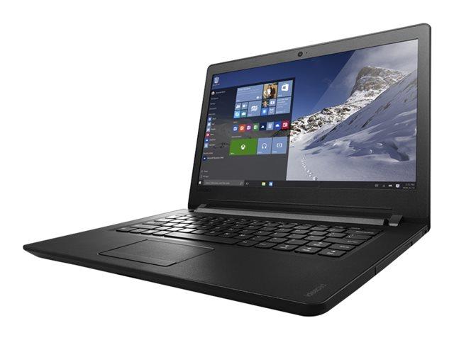 Lenovo 110-14IBR 80T6 - Celeron N3060 / 1.6 GHz - Win 10 Home 64-bit - 4 GB RAM - 500 GB HDD - 14
