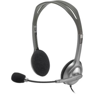 Auriculares Logitech H110 CableadoEstéreo - De Diadema - Semi Abierto - Plata