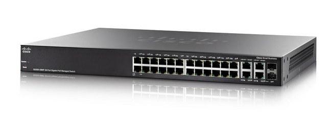Switch Cisco SG300-28MP - 28 Puertos Gigabit Max- Poe- Par trenzado - 3 Capa compatible