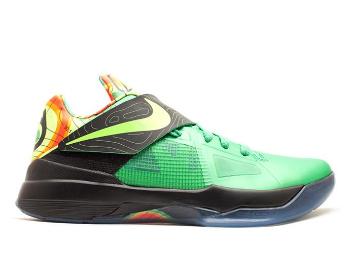 Traphouse Sneakers | Nike zoom kd 4 weatherman lush green volt black tm orng