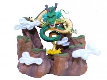 Base Forma De Montaña Paoz Para Esferas Del Dragon De 4.4cm De Diámetro + Figura De Shenlong