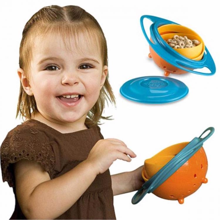 Gyro Bowl 360 Plato Tazón Anti Caídas Derrames Para Niños Bebés