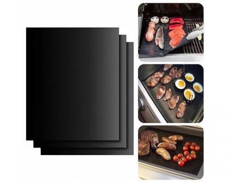 Tapete Antiadherente Para Parrillas Asador BBQ Grill Mats Paquete Con 5