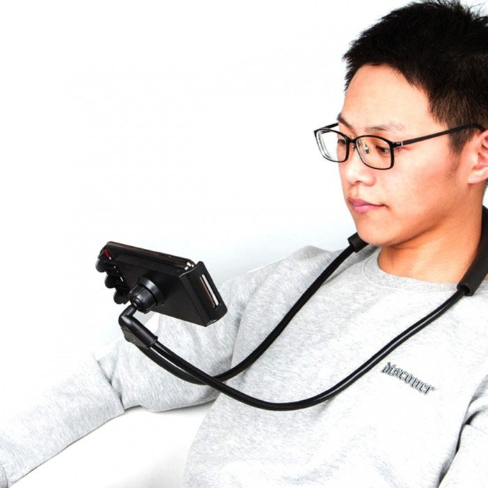 Soporte Para Celular Con Brazo Flexible Ideal Para Colocarlo En El Cuello