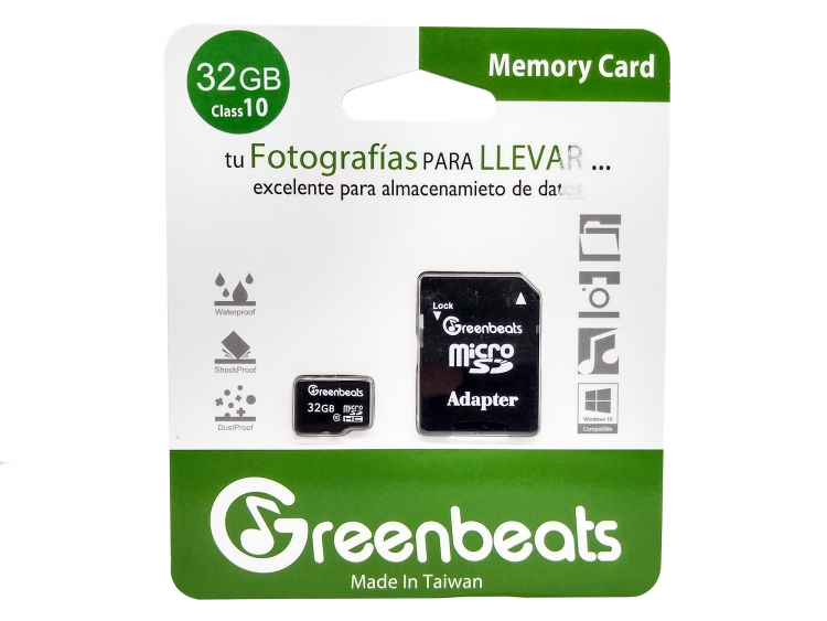 Memoria Micro SD 32GB Clase 10 Greebeats