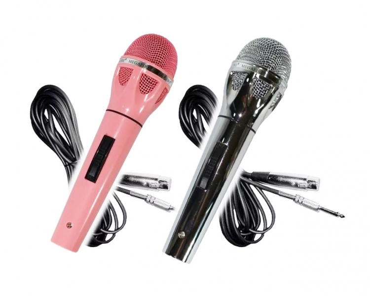 Set De 2 Micrófonos Alámbricos Dinámicos Megafire 461-No44