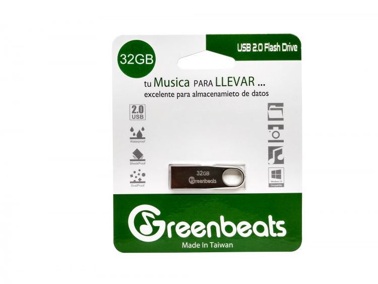 Memoria USB 32GB Greenbeats 2.0