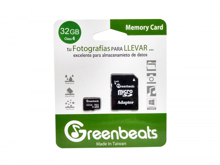 Memoria Micro SDHC Greenbeats 32 Gb Clase 4