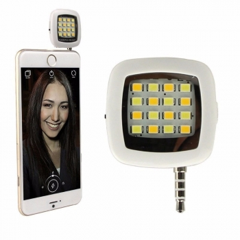 Flash Con 16 Leds Para Celular Tablet IOS Android Recargable