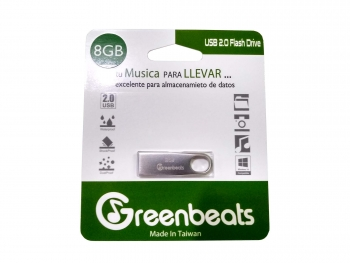 Memoria USB Greenbeats 8Gb 2.0 Flash Drive Metálica