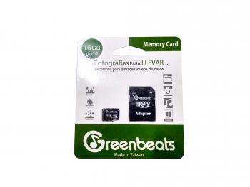 Memoria Micro SDHC Greenbeats 16Gb Clase 10