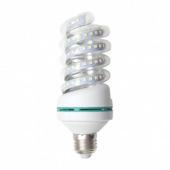 Foco Ahorrador LED 16W E27 Luz Blanca Forma Espiral