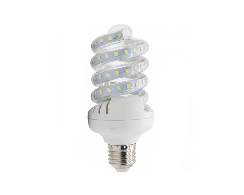 Foco LED De Espiral 12w Luz Blanca E27 30 Leds
