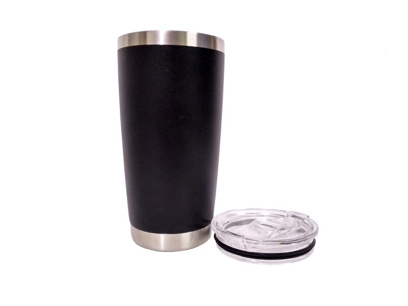 Vaso Térmico De 20oz Color Negro Con Tapa Hermética