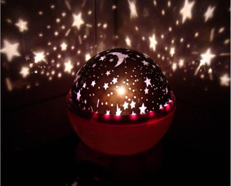 Lámpara Luz Led Giratoria Proyector De Estrellas