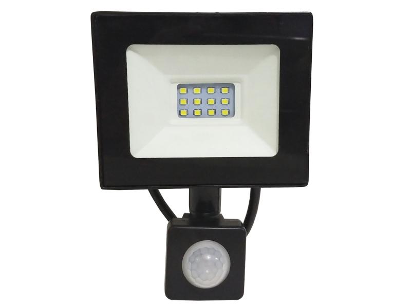Reflector Led 10w Con Sensor De Movimiento Contra Agua IP66