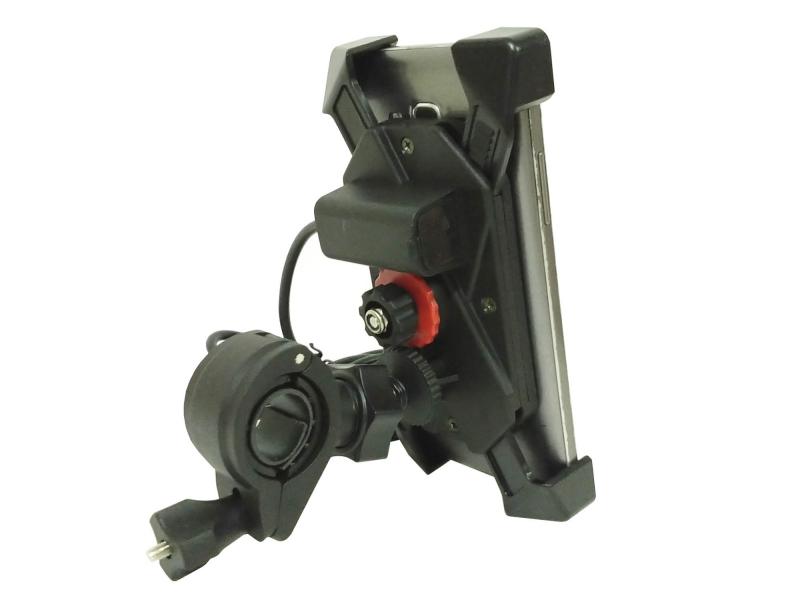 Soporte De Celular Para Moto Con Cargador Usb Manubrio Y Retrovisor