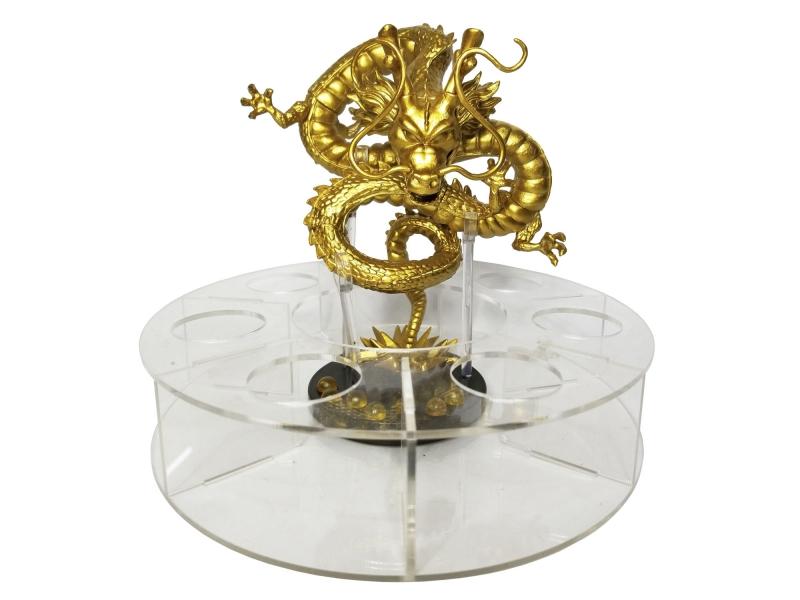Base De Acrílico Para Esferas De Dragon Ball De 4.4cm ø + Figura De Shelong Dorado