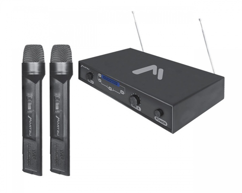 Kit De Dos Micrófonos Inalámbricos VHF
