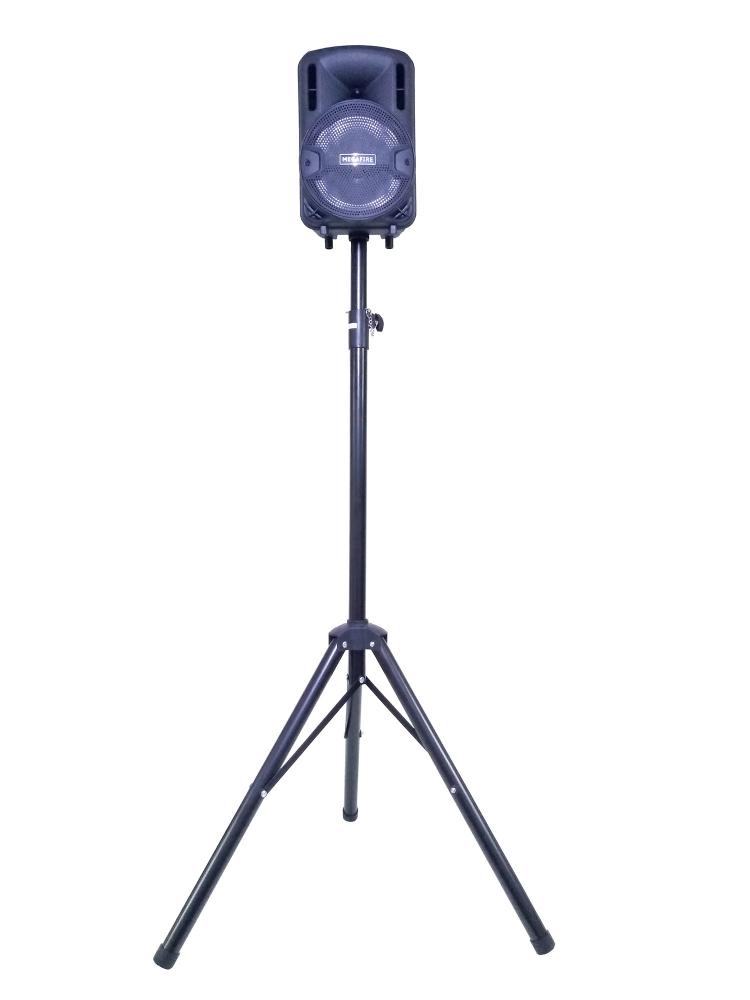 Bafle Bocina Amplificado Bluetooth Recargable Megafire + Tripié, Altura Máxima 2m