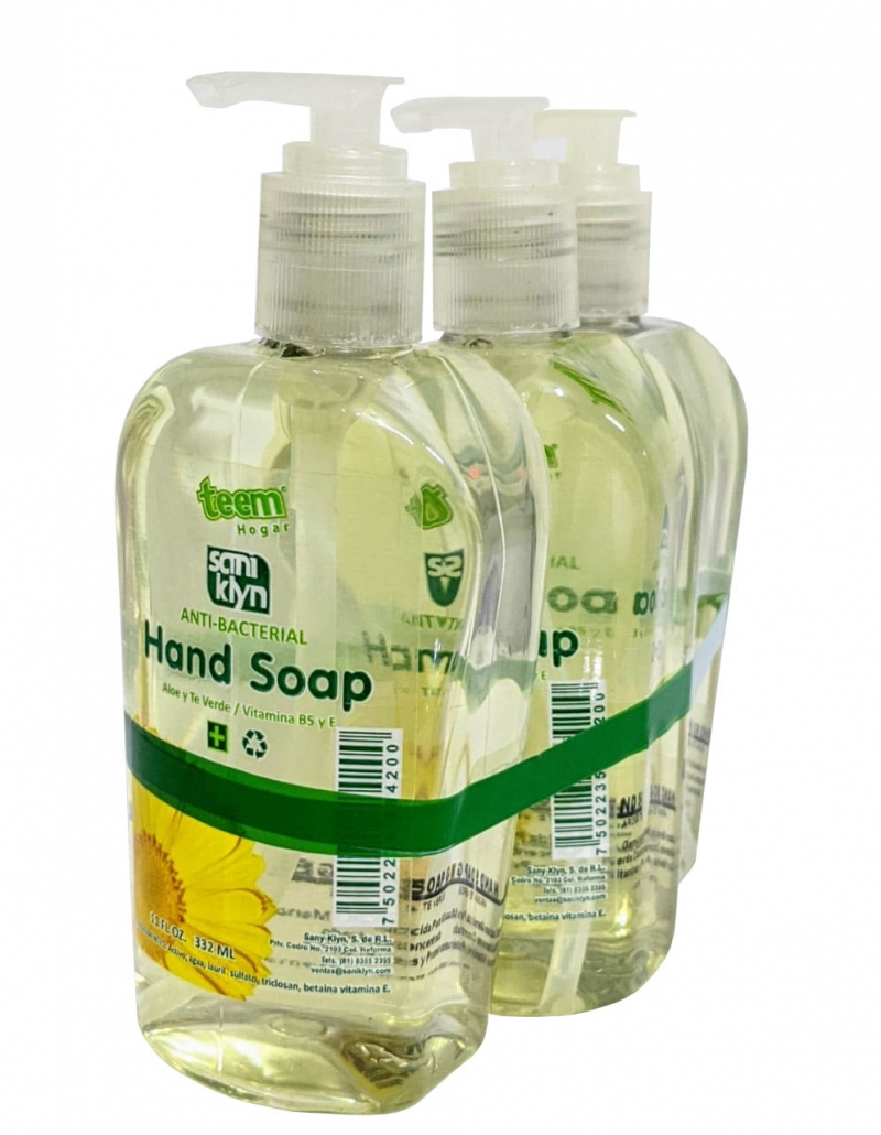 Hand Soap Gel 3pzs 332ml Jabon Antibacterial Para Manos