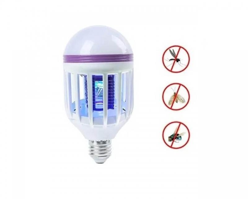 Lámpara Foco Led Mata Insectos Rosca E27