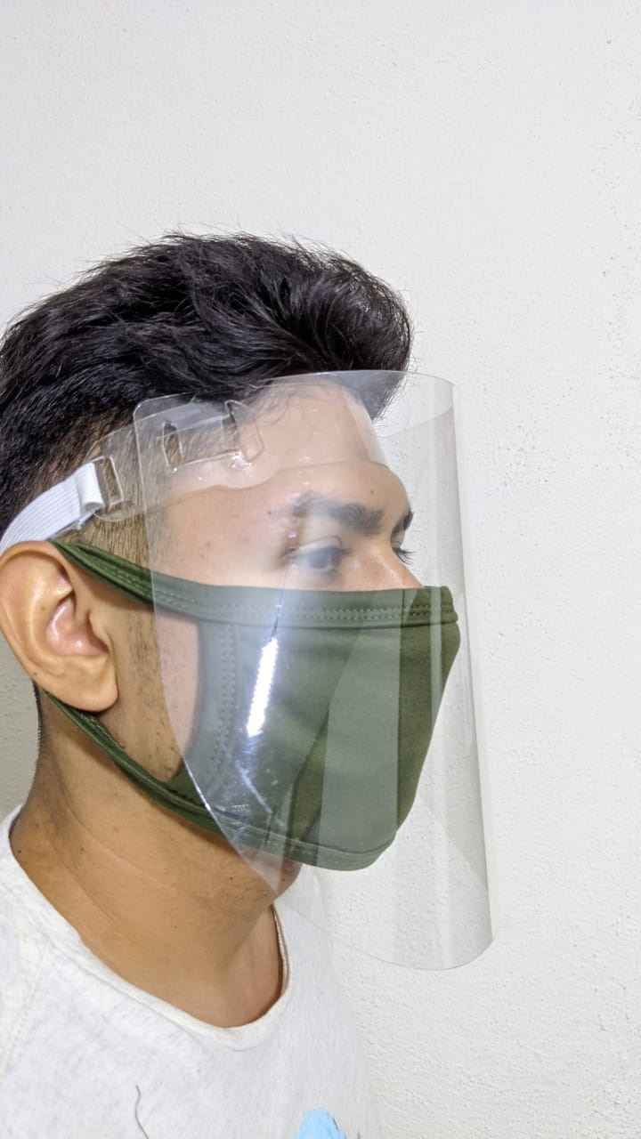 Careta Facial Medica Protectora Transparentes Reutilizable