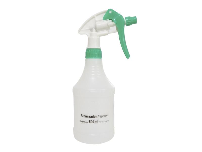 Botella De Plástico Con Atomizador Capacidad De 500ml