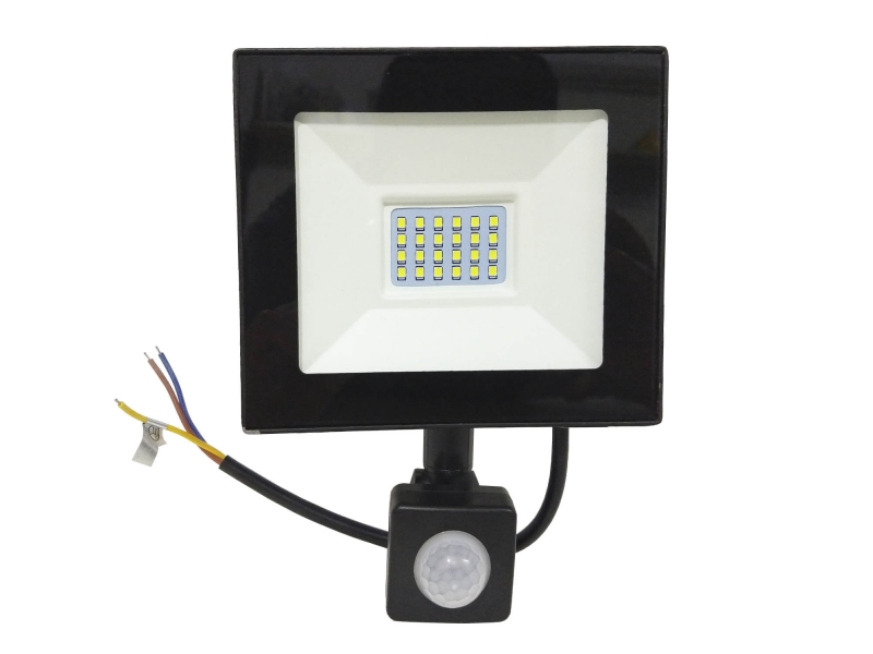 Reflector Led 20w Con Sensor De Movimiento Contra Agua IP66